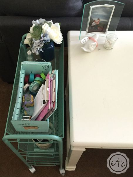 DIY Rolling Cart Transformation