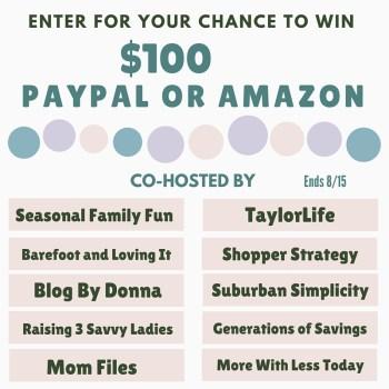 $100 Amazon Giveaway – 8/15/16