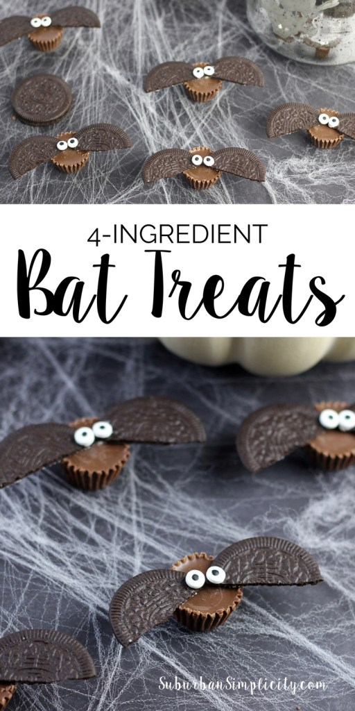 Looking for an adorable treat idea to serve at your Halloween party? Try these Easy 4-Ingredient Bat Treats! Spooky good...kids of all ages love 'em!
