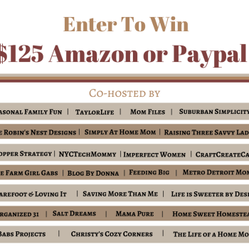 $125 Amazon or PayPal Giveaway – 10/30/16