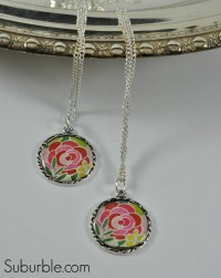 Easy DIY Pendant and Necklace - Suburble