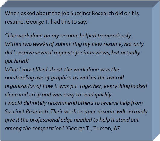 Resume Writing for Scientists Succinct Research
