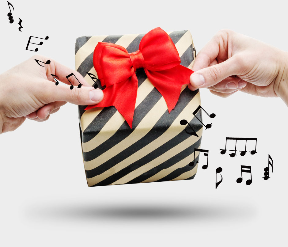 Musical Bow  Reusable ribbon that plays Happy Birthday