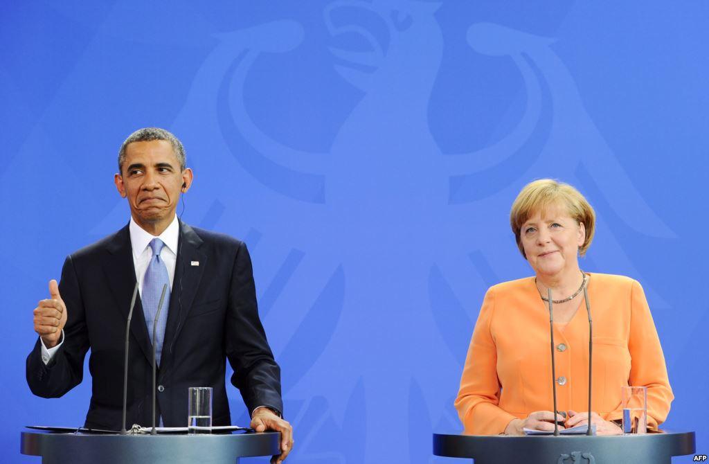 """أوباما وميركل يطالبان بإبقاء """"عقوبات روسيا"""""""