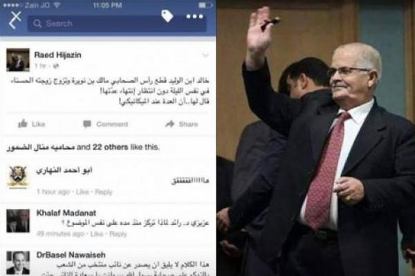 """بالصورة ..نائب اردني مسيحي يثير الجدل بعد """"نكتة"""" على الصحابي خالد بن الوليد"""