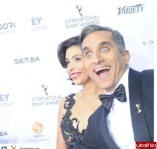 بالصور: زوجة باسم يوسف تخطف الأنظار في أول ظهور إعلامي رسمي لها
