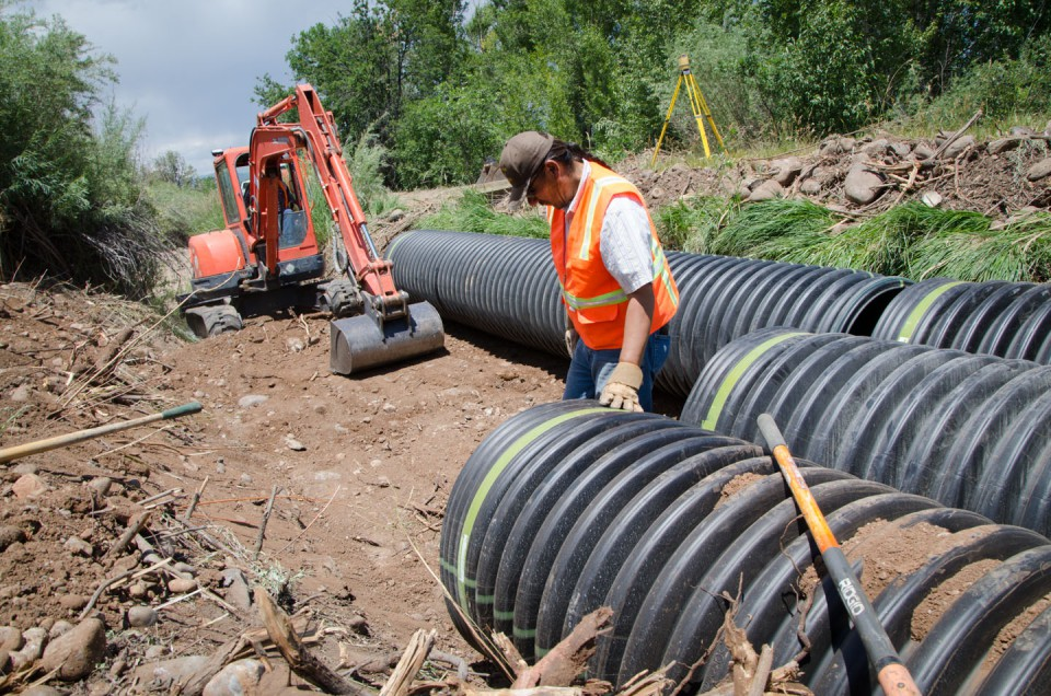 The Southern Ute Drum Dr Morrison Canal emergency fix nears
