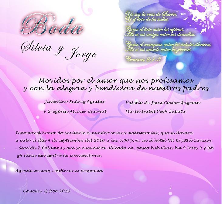 La boda de mis sueños en Cancún - Invitaciones para bodas dobles