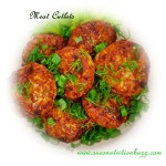 Cutlets on salad leaves