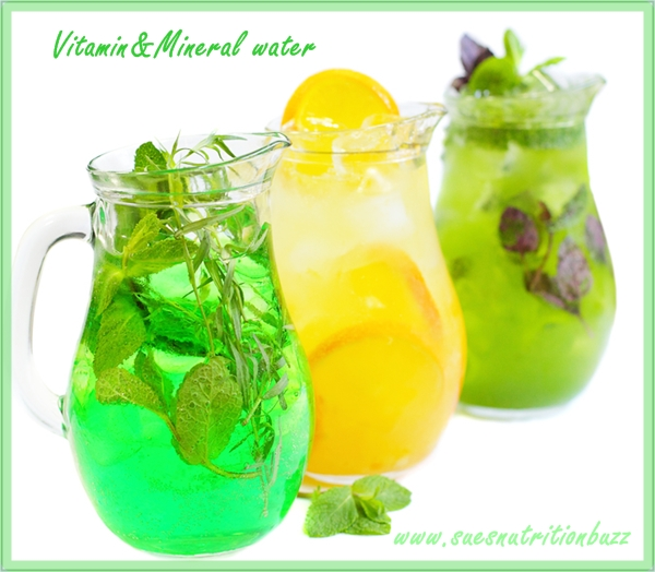 Make Your Own Vitamin & Mineral Water ! - Sue's Nutrition Buzz