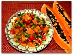 Papaya Three Bean Salad
