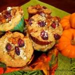Pumpkin Spice Ricotta Oat Muffins with Craisins & Walnuts