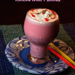 Rose Milk Almond Falooda with Chia Seeds