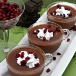 Dark Chocolate Pomegranate Mousse
