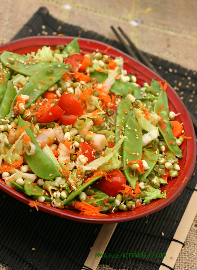 Asian Sprouted Bean Salad