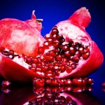 Colorful pomegranates