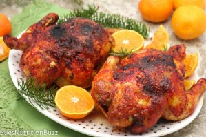 Ginger Orange Glazed Cornish Hens
