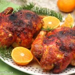 Ginger Orange Glazed Cornish Hens