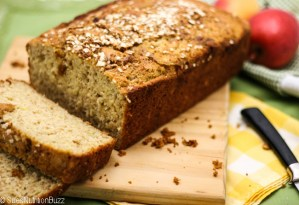 Apple Zucchini Flax Bread