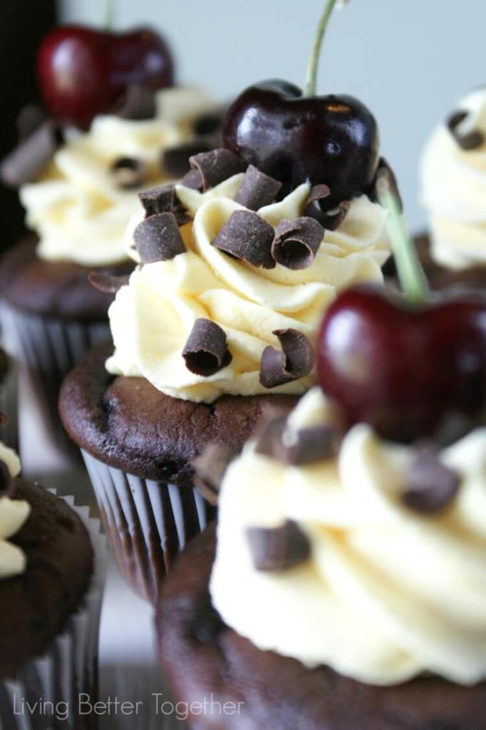 Black Forest Cupcakes | www.sugarandsoul.co