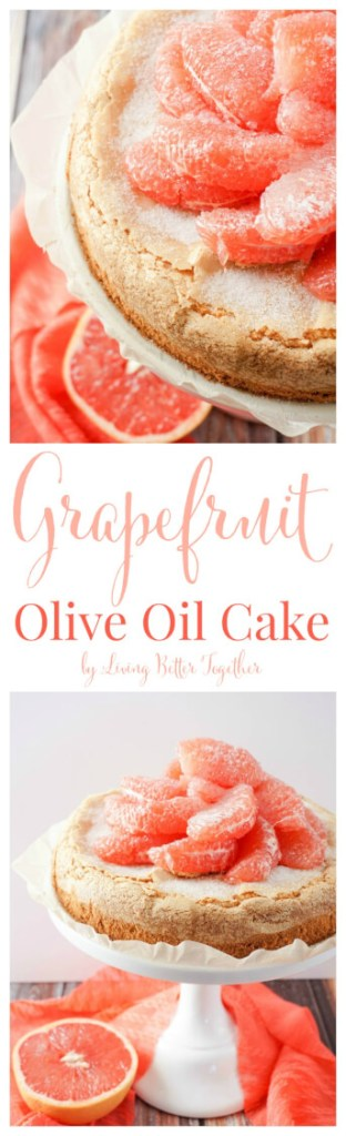 This light Olive Oil Cake is brightened up with fresh and vibrant Florida Grapefruit making it perfect for brunch or dessert! It's just 5-ingredients and 300 calories per serving, are you in love yet? #FLGrapefruit #CleverGirls