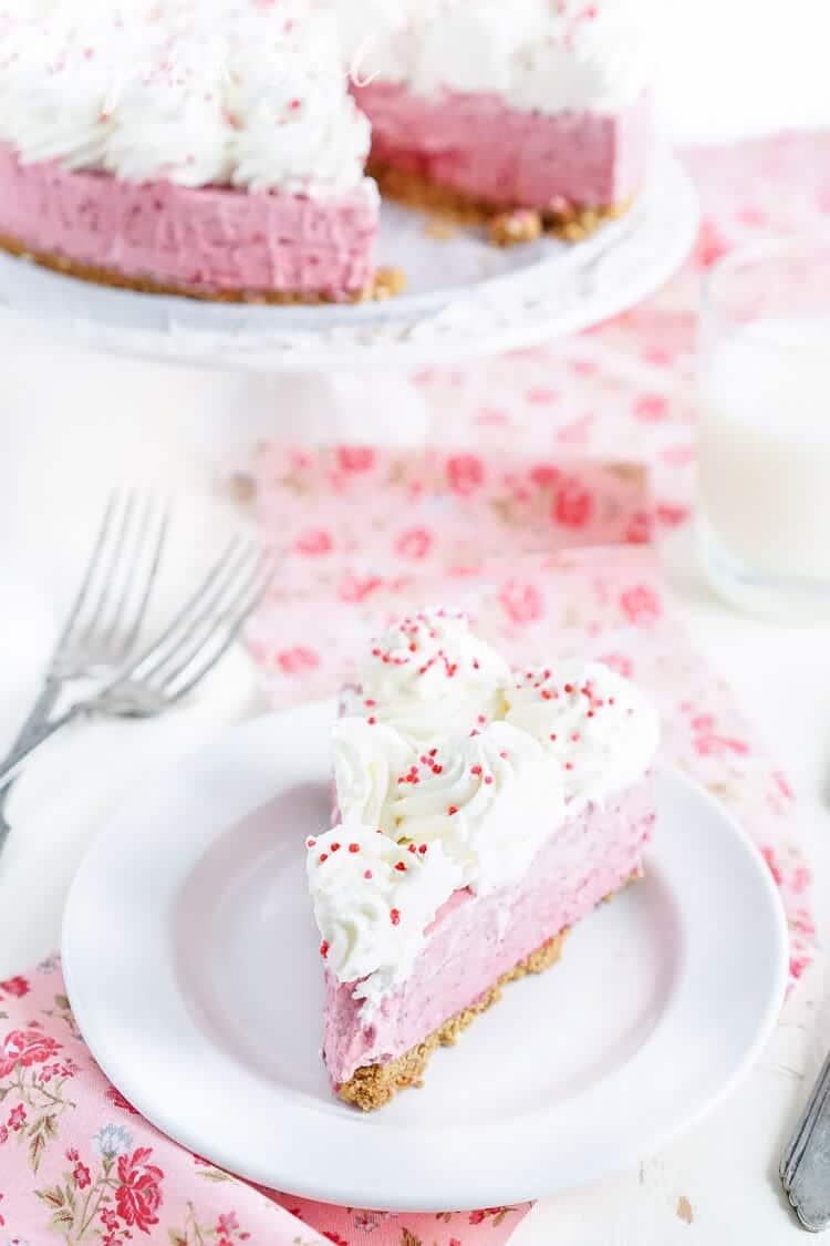 No Bake Raspberry Cheesecake Recipe from Sugar & Soul