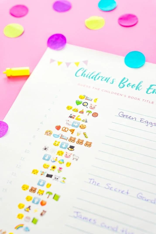 Emoji Pictionary Baby Shower Game Free Printable Sugar  Soul
