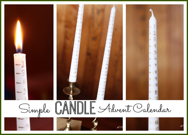 Simple Candle Advent Calendar Sugar Bee Crafts