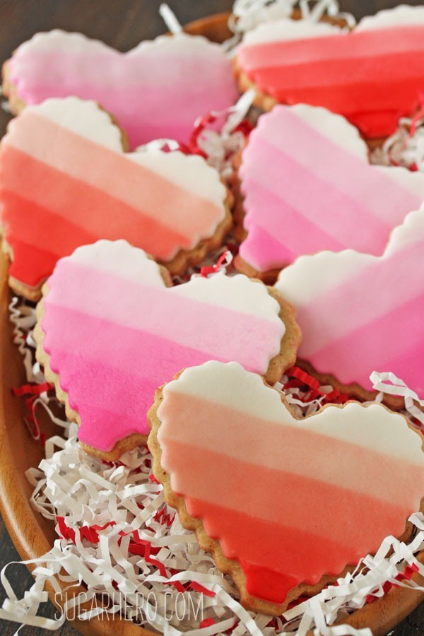 Brown Butter Heart Cookies | SugarHero.com