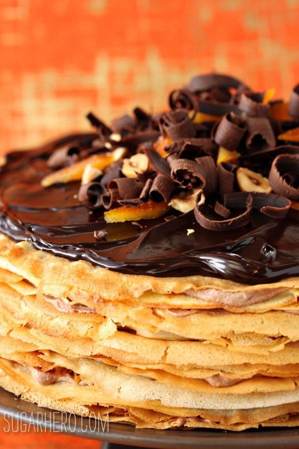 Nutella Crepe Cake   SugarHero.com