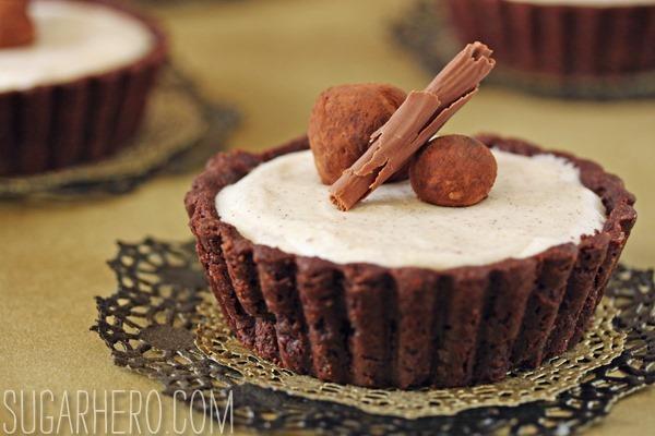 Cinnamon Mousse Tarts   SugarHero.com