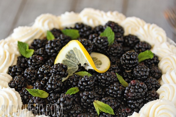 Lemon Blackberry Trifle | SugarHero.com