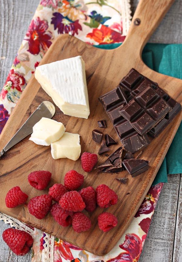 Raspberry, Brie, and Chocolate Puff Pastries   SugarHero.com