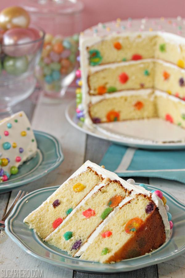 Easter Polka Dot Cake   SugarHero.com