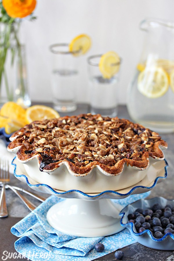 Blueberry Crumble Pie | From SugarHero.com