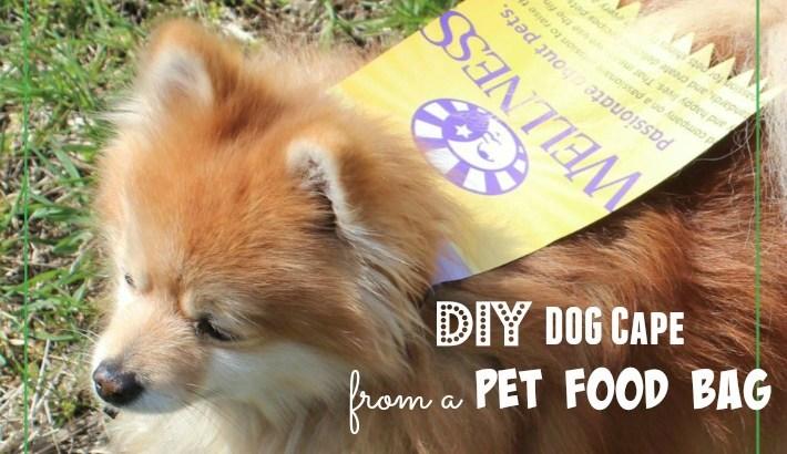 DIY Dog Cape from a Pet Food Bag