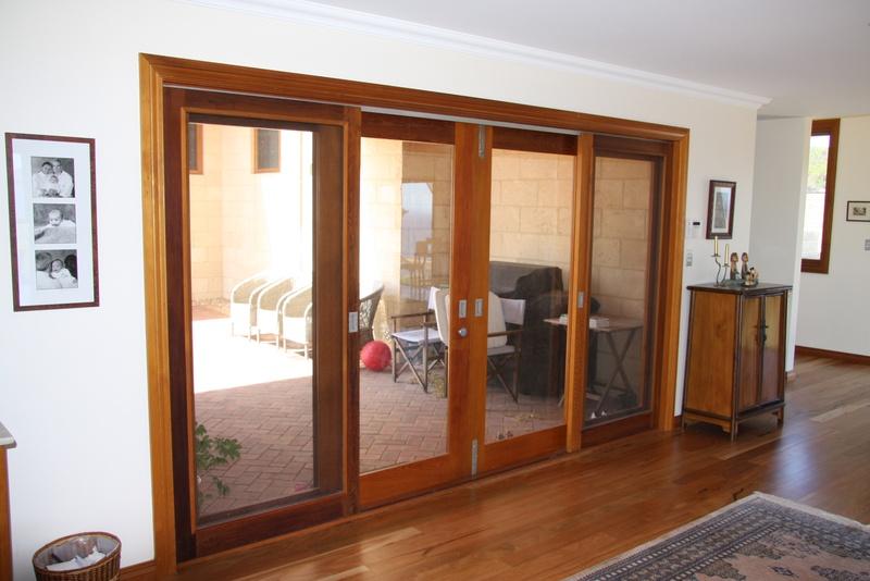 sliding wooden door