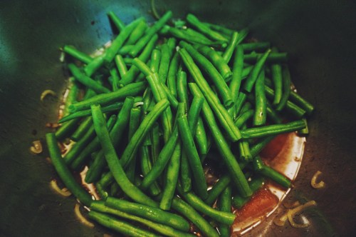 Stewed Green Beans with Bacon & Pot Liquor