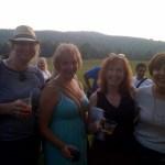 Barbara, Me, Judith, and Chris at the Book Signing and Reception at Treman