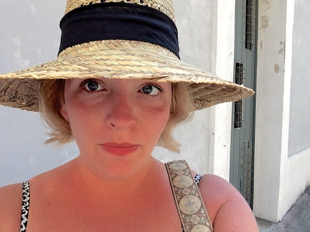 Taking a selfie of me and my new hat in San Juan, I was struck by my multiple chins and arm rolls.  Something must be done.