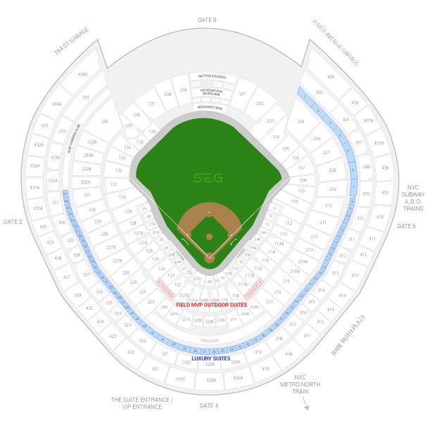New York Yankees Suite Rentals Yankee Stadium