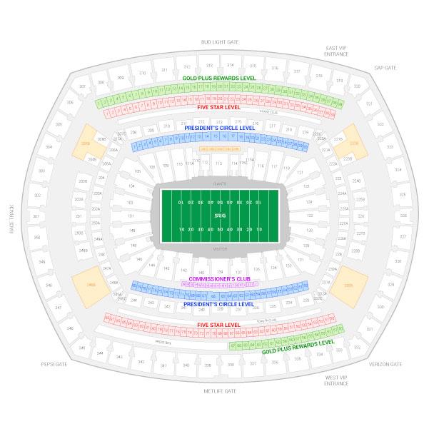 New York Giants Suite Rentals MetLife Stadium