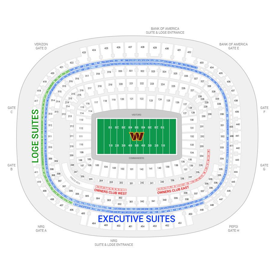 Washington Redskins Suite Rentals FedEx Field