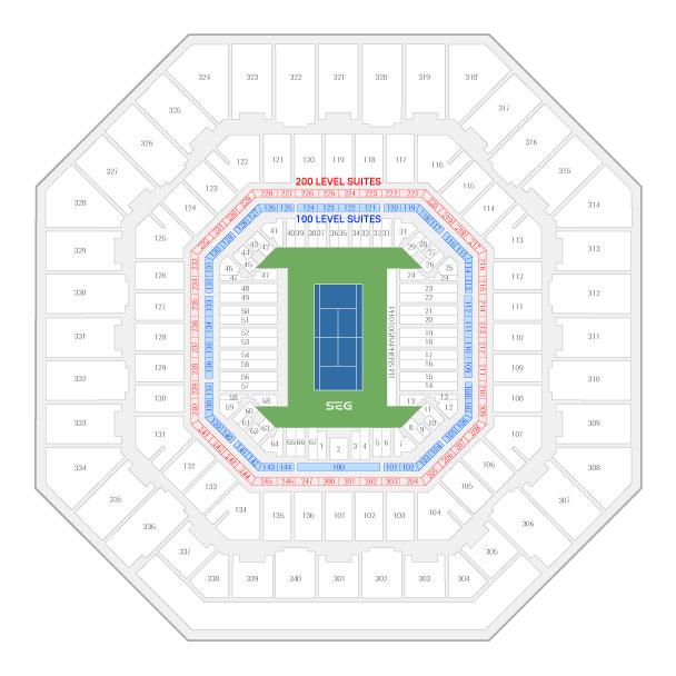 US Open Tennis Championship Suite Rentals Arthur Ashe Stadium