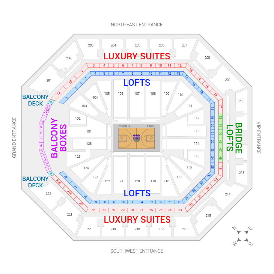 Sacramento Kings Suite Rentals Golden 1 Center