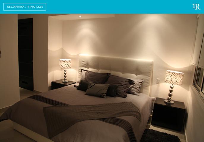 Suite 1 recamara suites malecon canc n for Recamaras king size en guadalajara