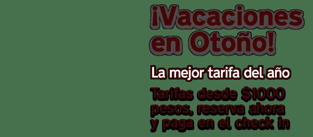vacaciones de otoño en cancun