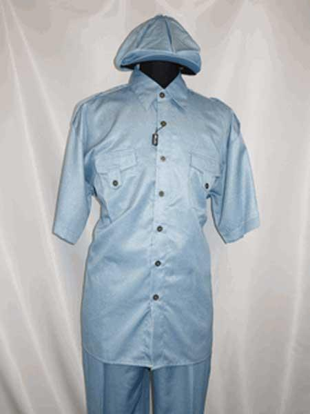 Product# SM1127 Brass Buttons Two Piece Collar Shirt With Pa