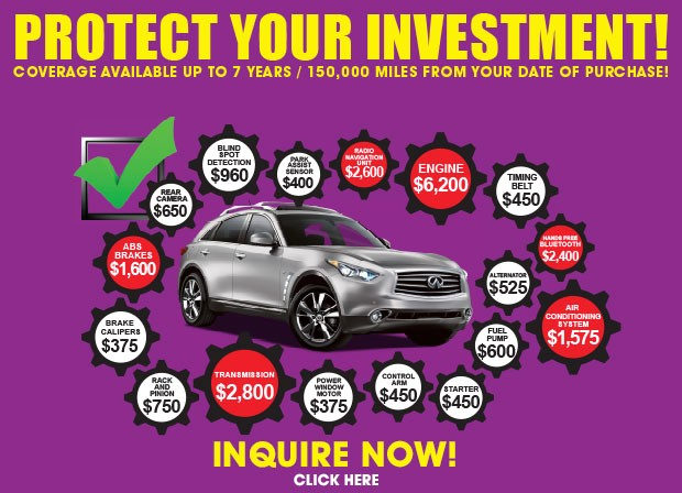 Used car warranties extended service contracts Sullivan