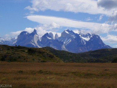 Mountains in Torres del Paine National Park, Patagonia, Chile